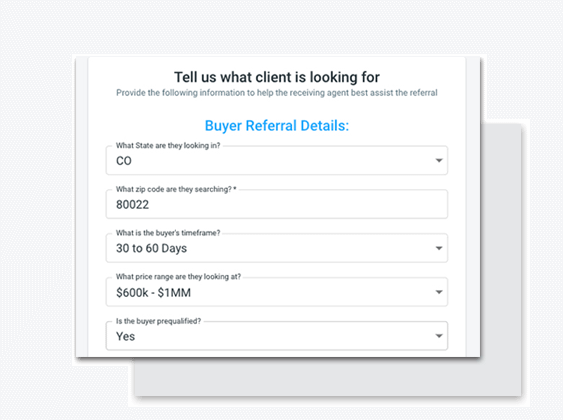 enter details for your roosted referral